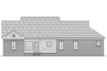 Southern Exterior - Rear Elevation Plan #21-193