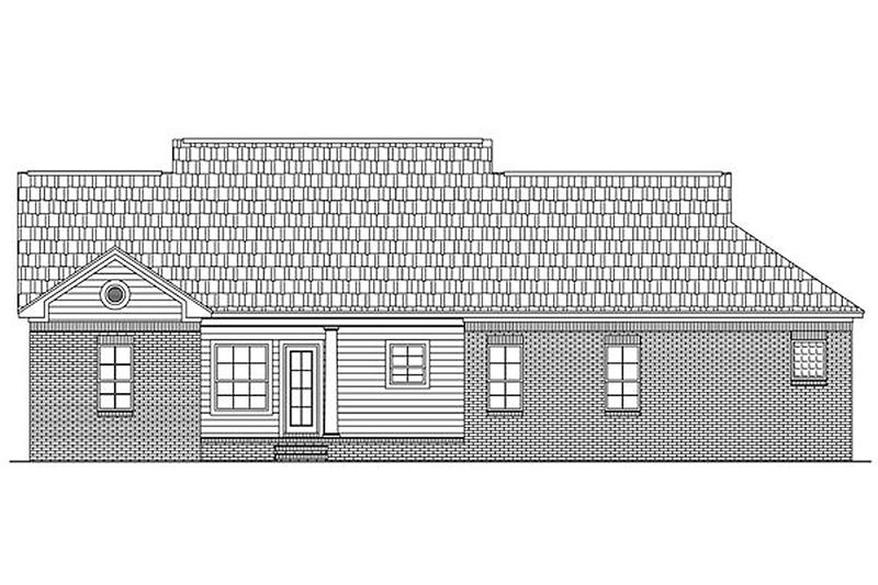 Southern Exterior - Rear Elevation Plan #21-193 - Houseplans.com