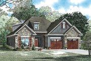 European Style House Plan - 3 Beds 2 Baths 1738 Sq/Ft Plan #17-2464