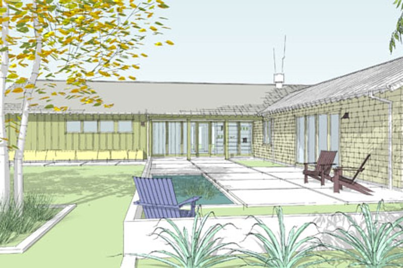 Ranch Exterior - Front Elevation Plan #445-3