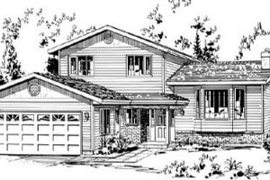 Traditional Exterior - Front Elevation Plan #18-9073