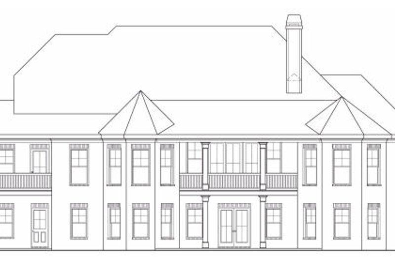 Craftsman Exterior - Rear Elevation Plan #419-132 - Houseplans.com