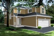 Traditional Style House Plan - 3 Beds 2.5 Baths 1662 Sq/Ft Plan #100-401 Exterior - Front Elevation