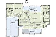 Southern Style House Plan - 4 Beds 3 Baths 2430 Sq/Ft Plan #17-2587 Floor Plan - Main Floor Plan