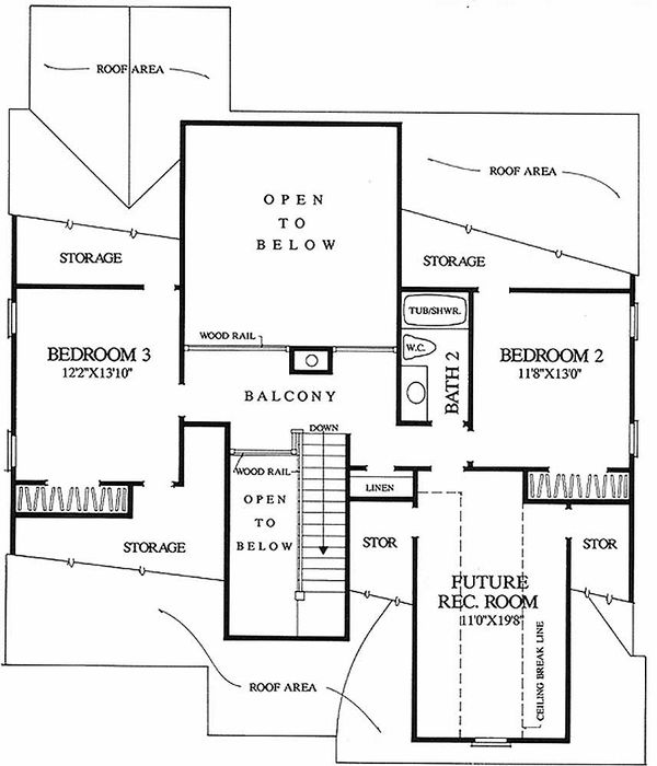 Traditional Floor Plan - Main Floor Plan Plan #137-196
