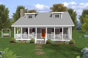 Farmhouse Exterior - Front Elevation Plan #56-242