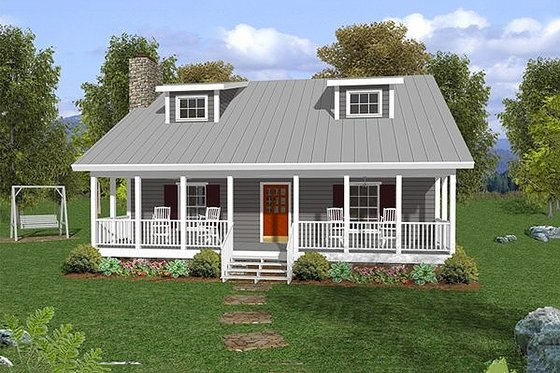 Farmhouse Exterior - Front Elevation Plan #56-242