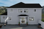 Craftsman Style House Plan - 3 Beds 2.5 Baths 2438 Sq/Ft Plan #1060-65 Exterior - Rear Elevation