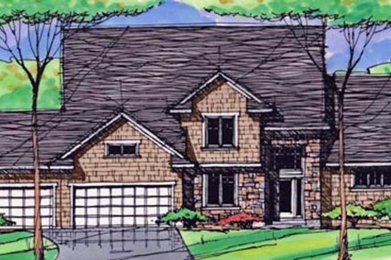 Traditional Exterior - Front Elevation Plan #51-406 - Houseplans.com
