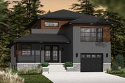 Contemporary Style House Plan - 3 Beds 2.5 Baths 1788 Sq/Ft Plan #23-2580 Exterior - Front Elevation