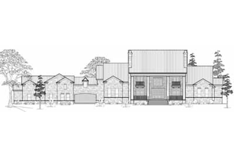 Colonial Exterior - Front Elevation Plan #61-201