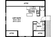 Farmhouse Floor Plan - Upper Floor Plan Plan #126-206