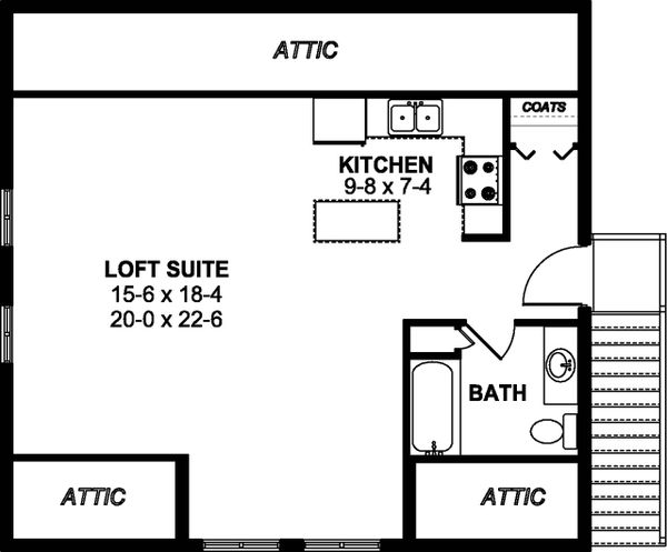 Farmhouse Floor Plan - Upper Floor Plan #126-206