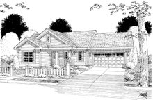 Home Plan - Country Exterior - Other Elevation Plan #513-2057