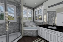 House Plan Design - Ranch Interior - Master Bathroom Plan #1060-2