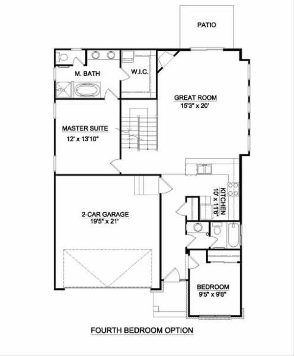 Bungalow Floor Plan - Other Floor Plan #116-269