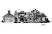 Country Style House Plan - 3 Beds 2.5 Baths 2044 Sq/Ft Plan #942-24 Exterior - Front Elevation