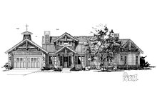 Country Exterior - Front Elevation Plan #942-24