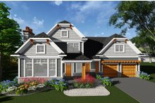 Home Plan Design - Craftsman Exterior - Front Elevation Plan #70-1276