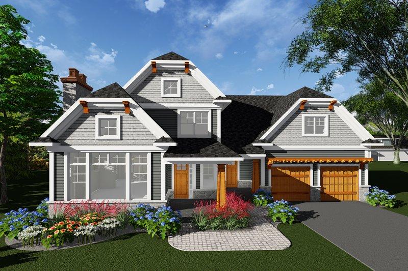 Dream House Plan - Craftsman Exterior - Front Elevation Plan #70-1276