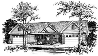 Traditional Exterior - Front Elevation Plan #20-404