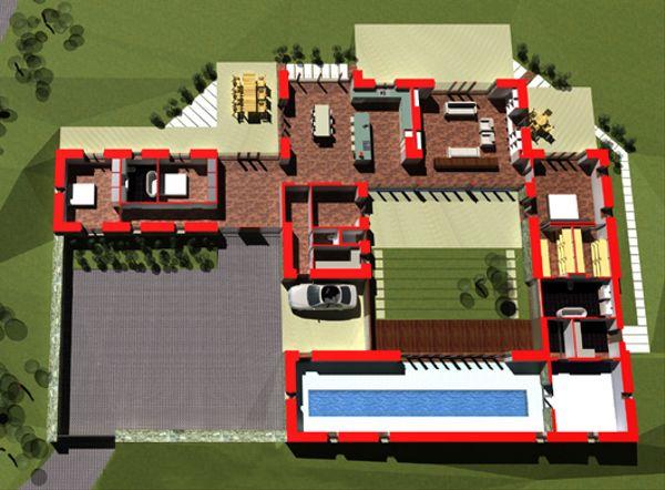 Modern Floor Plan - Other Floor Plan Plan #520-7
