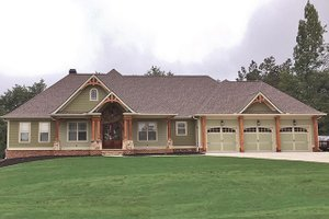 Dream House Plan - Craftsman Exterior - Front Elevation Plan #437-74