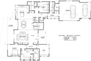 Modern Style House Plan - 4 Beds 4 Baths 3712 Sq/Ft Plan #892-17 Floor Plan - Main Floor Plan