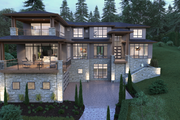 Contemporary Style House Plan - 5 Beds 6 Baths 6901 Sq/Ft Plan #1066-39 Exterior - Front Elevation