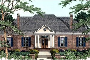 Southern Exterior - Front Elevation Plan #406-116