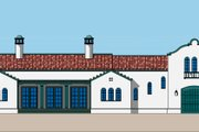Mediterranean Style House Plan - 3 Beds 2.5 Baths 2056 Sq/Ft Plan #492-1 Exterior - Front Elevation