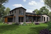 Modern Style House Plan - 3 Beds 2.5 Baths 3681 Sq/Ft Plan #48-694 Exterior - Rear Elevation