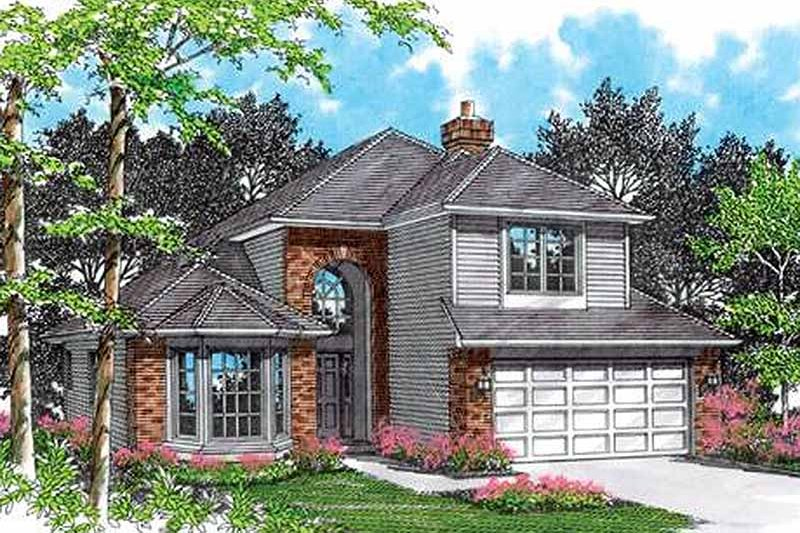 Traditional Exterior - Front Elevation Plan #48-209