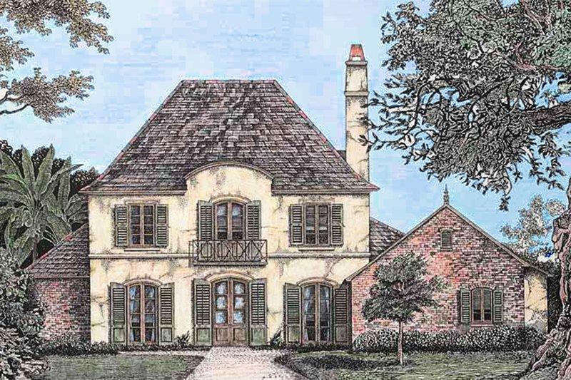 Architectural House Design - European Exterior - Front Elevation Plan #301-109