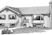 Ranch Style House Plan - 3 Beds 2 Baths 1352 Sq/Ft Plan #47-242 Exterior - Front Elevation