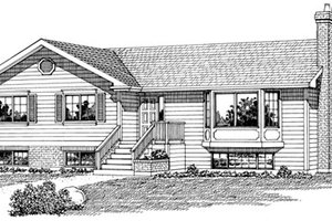 Ranch Exterior - Front Elevation Plan #47-242