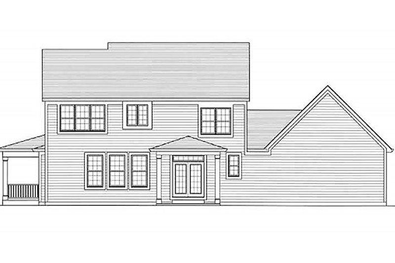 Traditional Exterior - Rear Elevation Plan #46-491 - Houseplans.com