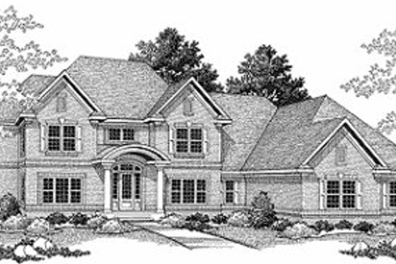 Dream House Plan - Traditional Exterior - Front Elevation Plan #70-516