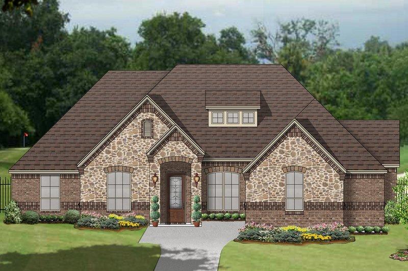 Dream House Plan - European Exterior - Front Elevation Plan #84-608