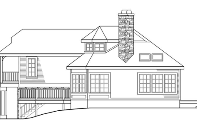Country Exterior - Other Elevation Plan #124-438 - Houseplans.com