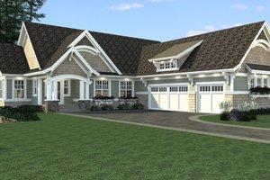 Craftsman Exterior - Front Elevation Plan #51-563