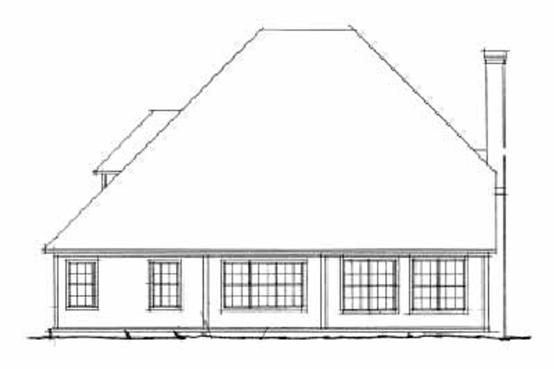 Traditional Exterior - Rear Elevation Plan #20-378 - Houseplans.com
