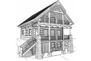 Log Style House Plan - 1 Beds 1.5 Baths 1695 Sq/Ft Plan #451-1 Exterior - Other Elevation