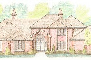 European Exterior - Front Elevation Plan #421-133