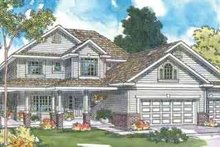 Traditional Exterior - Front Elevation Plan #124-361