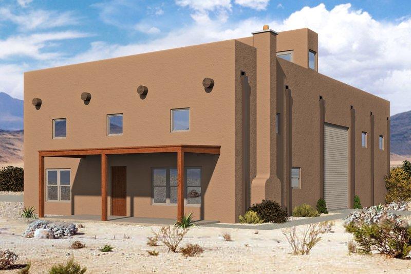 Architectural House Design - Mediterranean Exterior - Front Elevation Plan #932-337