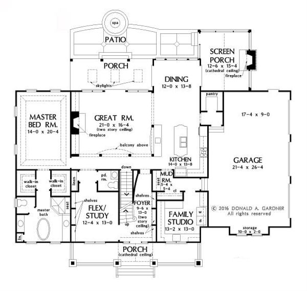 Dream House Plan - Optional Basement Stairway