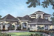Mediterranean Style House Plan - 4 Beds 3 Baths 2887 Sq/Ft Plan #417-345 Exterior - Front Elevation