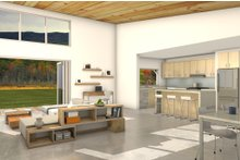 Modern Interior - Kitchen Plan #497-31