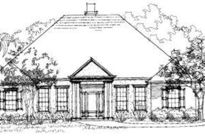Southern Exterior - Front Elevation Plan #325-182